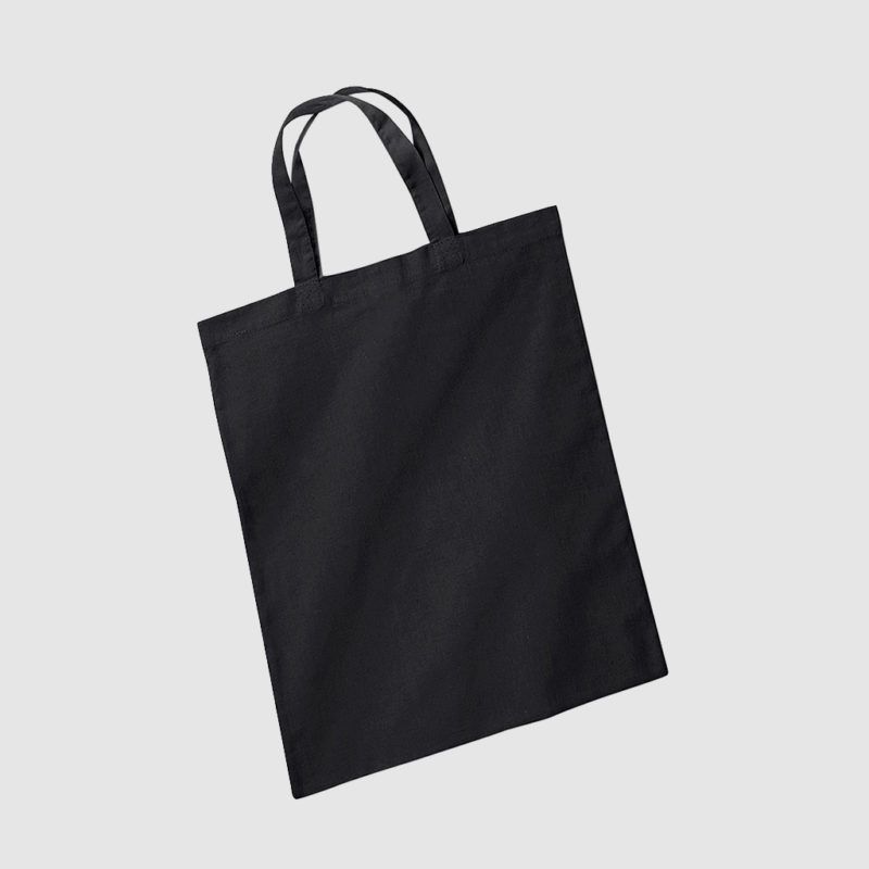 Custom casual short handle tote bag for life