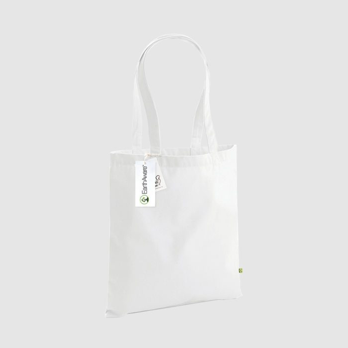 Custom organic cotton canvas totes, with long handles for shoulder carry