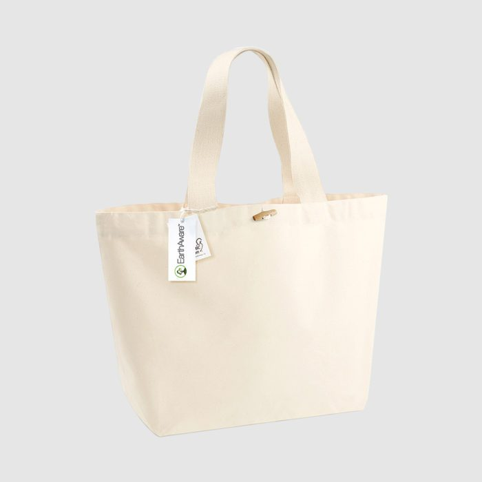 Custom shopper made from cotton canvas, customisation options available