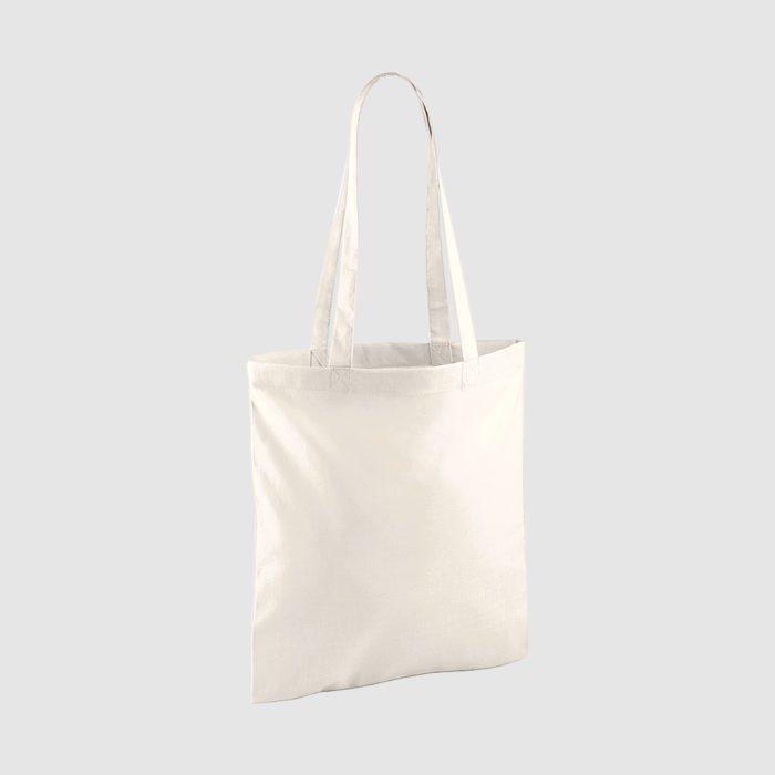 Custom shopper tote in black with long handles, shoulder carry and inexpensive option
