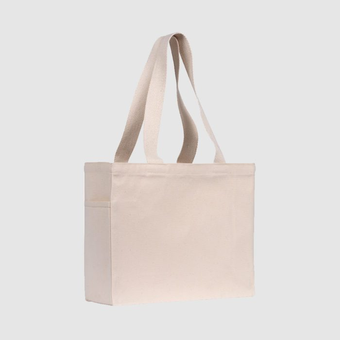 Tote 10oz Eco Canvas with Side Pocket