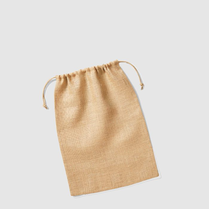 Custom Jute Drawstring Bag with double cord