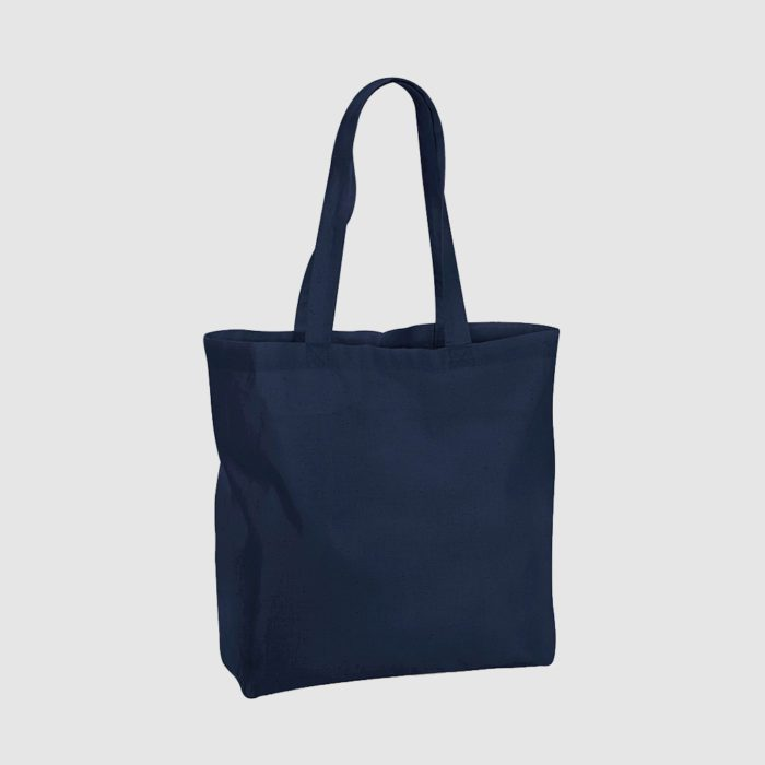Custom black tote bag made from woven cotton