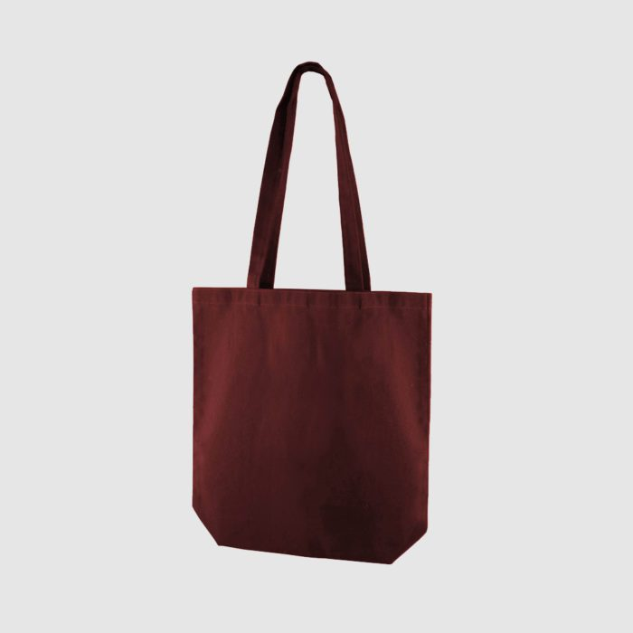 Custom portrait dyed canvas bag with long handles
