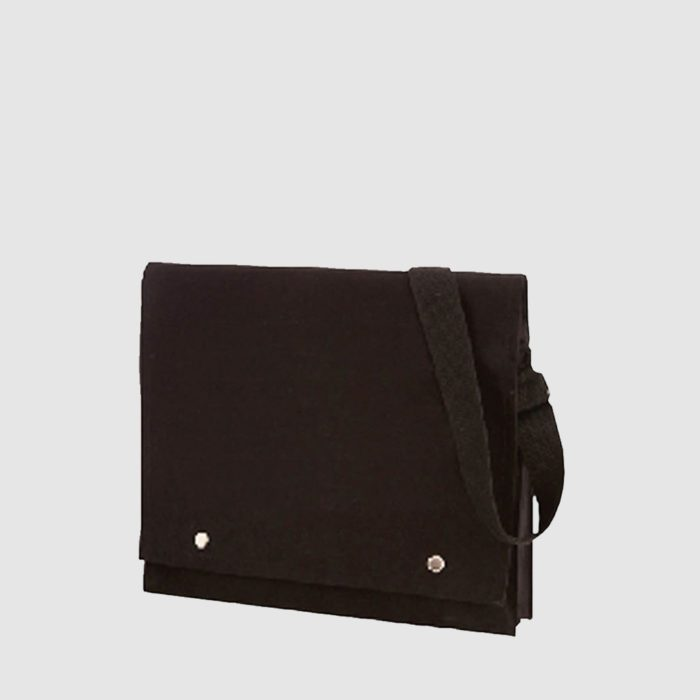Custom canvas tablet sleeve with magnetic button and a long handle