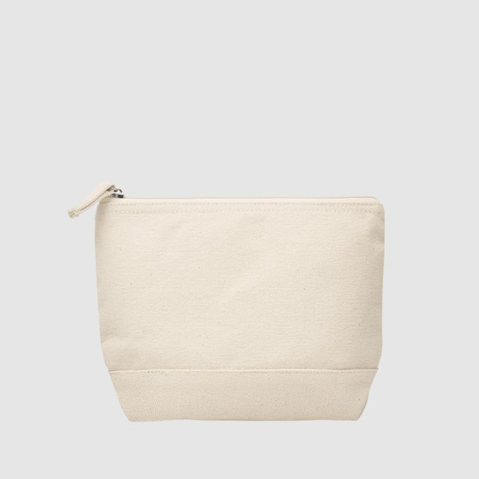 Custom cotton zip bag with contrast base, various colourway options are available
