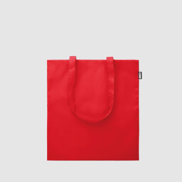 Custom lightweight RPET tote bag made with eco friendly material, recycled plastic bottles