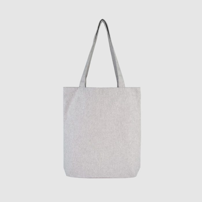 sustainable recycled tote bag, woven with cotton and polyester, casual look