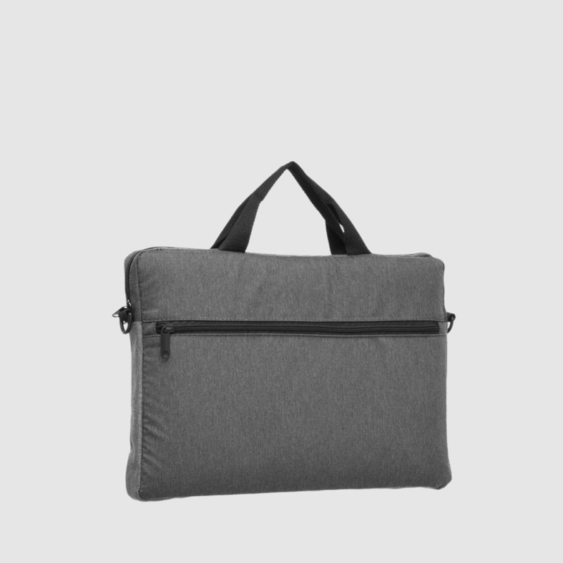 Custom zip briefcase, with front pockets and carry handles