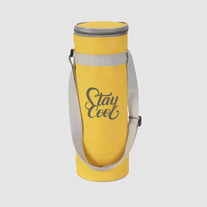 thermal fabric in yellow bottle bag