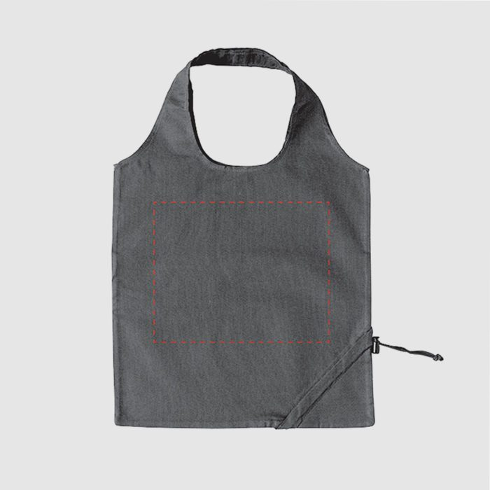 Custom folding shopper made from cotton, with double carrying straps