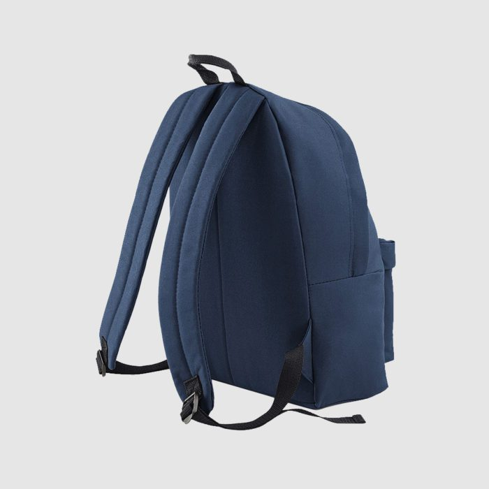 Custom black polyester rucksack with comfortable handles and 600D Polyester, customisation options available