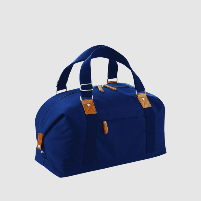 Custom vintage holdall made from polyester, with two long handles