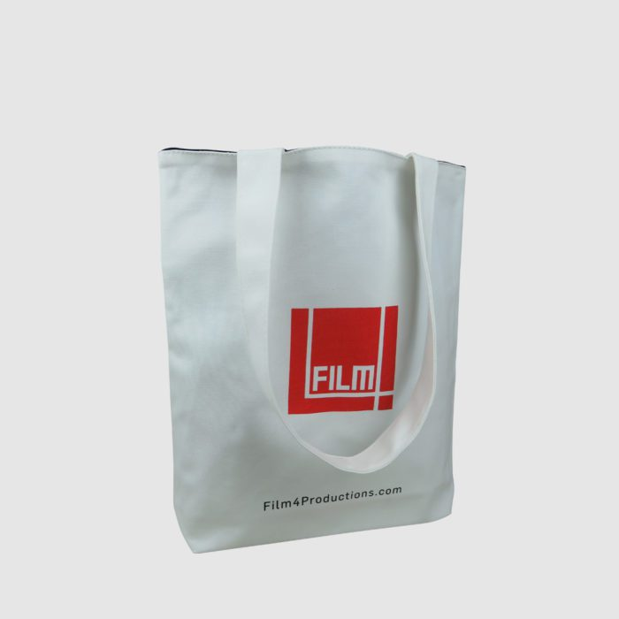 white bag with custom lined bag lining