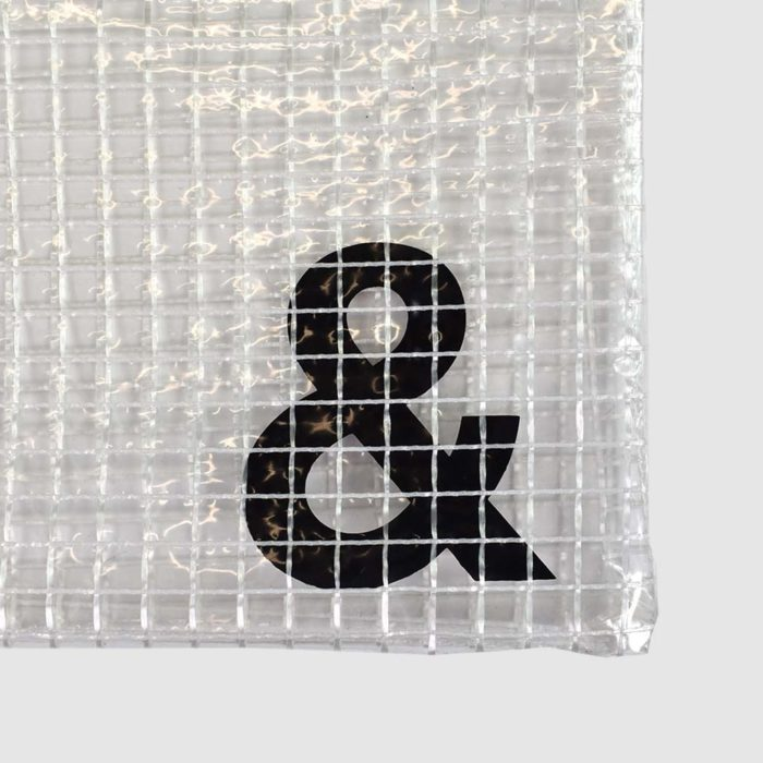 transparent bag with custom print - printed on the inside of the bag