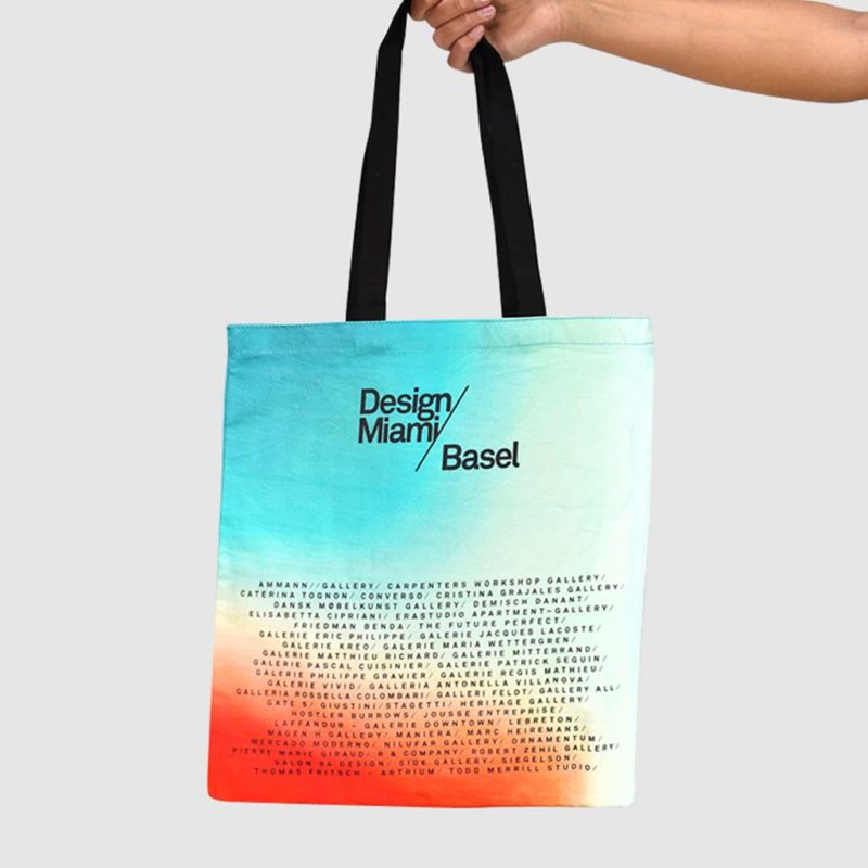 Digital print on tote bag - Ombre effect