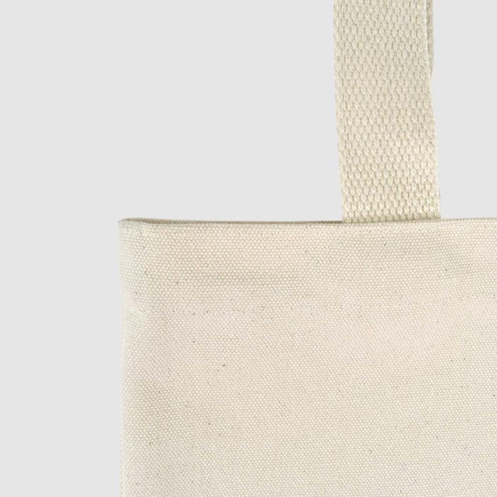 small tote bag in natural fabric