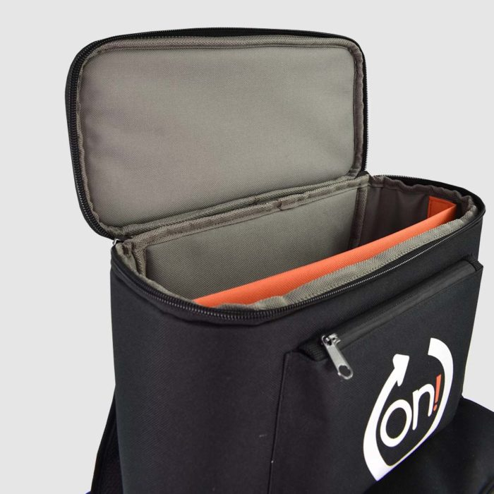 product presentation pack with movable dividers and velcro fastenings