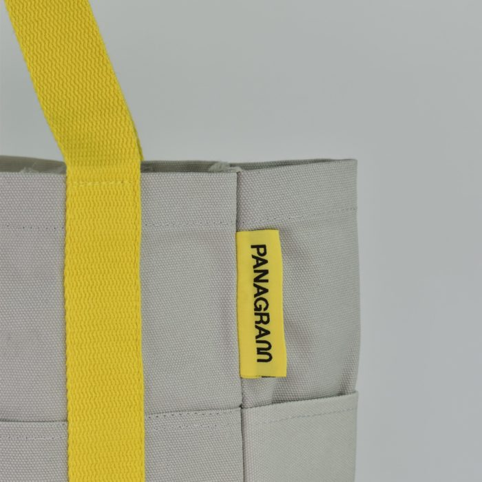 Customised shopper bag with Pantone matched woven logo label