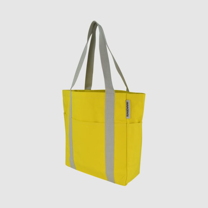 Pantone matched bespoke tote bag with external pockets