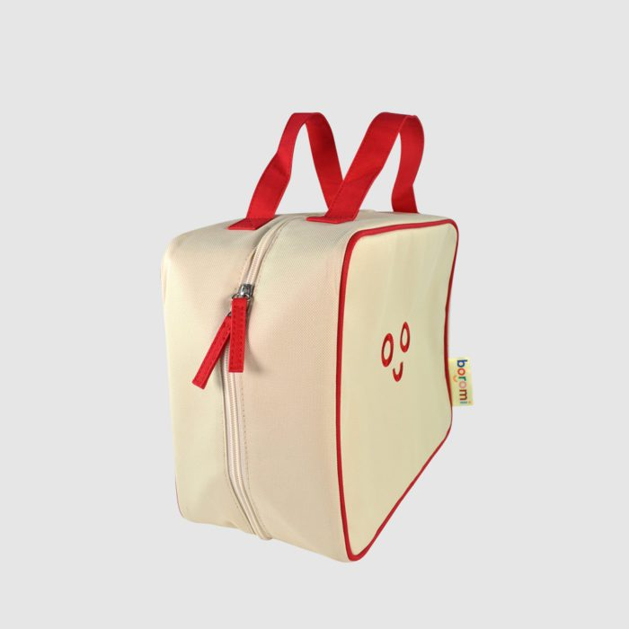 Bespoke carry case with red trim and embroidery