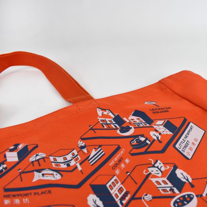 Pantone dyed bags with close up screen print