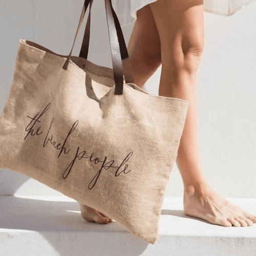 sustainable fabric bag in jute