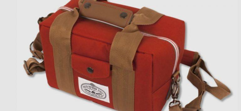 thermal fabric for lunch bag in red